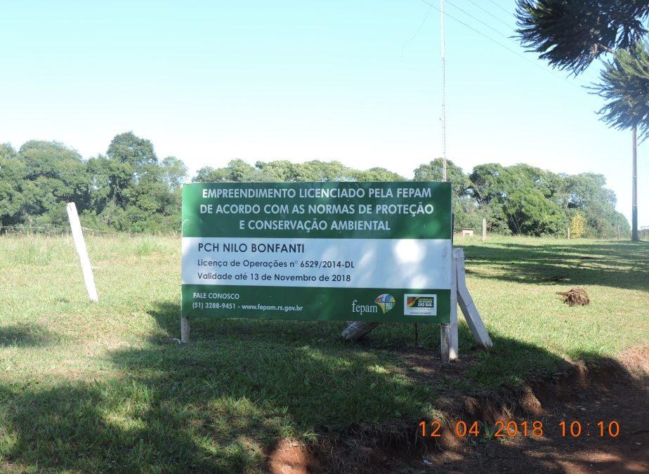Renovação LO da PCH Nilo Bonfanti